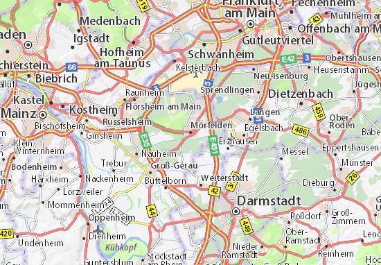 Mapa Mörfelden