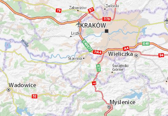 Mapa Skawina