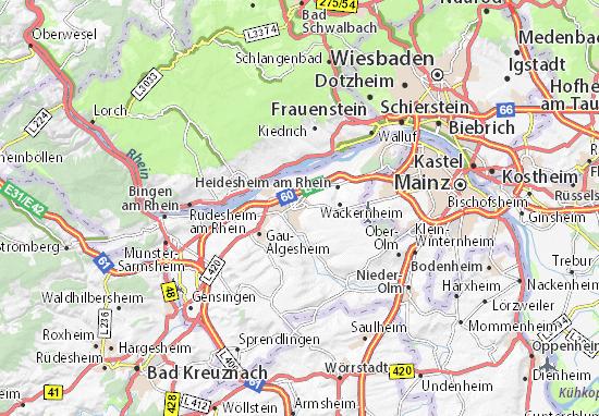 Mapa Ingelheim am Rhein