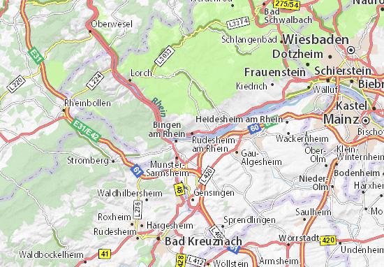 Rüdesheim am Rhein Map