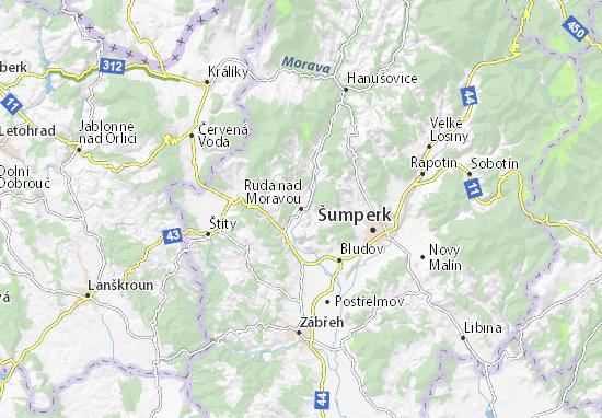 Mapas-Planos Ruda nad Moravou