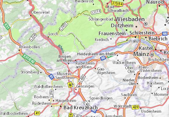 Mapa Geisenheim