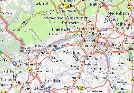 Heidesheim am Rhein Map