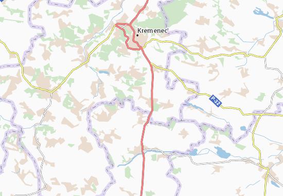Mapa Plano Horynka