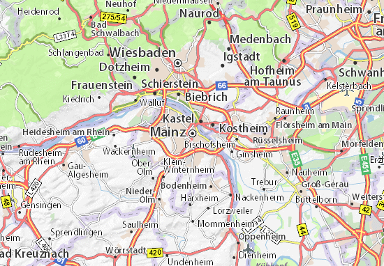 Mapa Plano Mainz