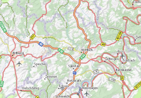 Karte Stadtplan Hupperath