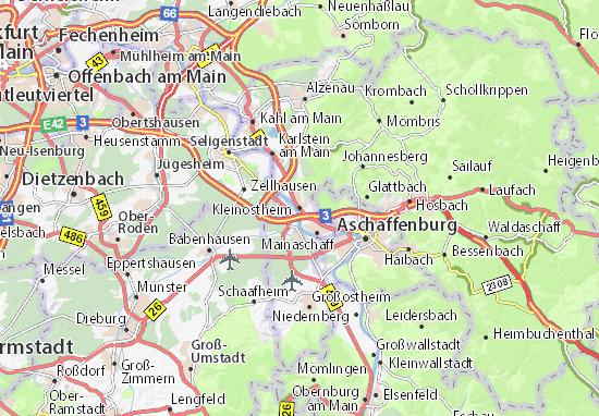 Karte Stadtplan Kleinostheim
