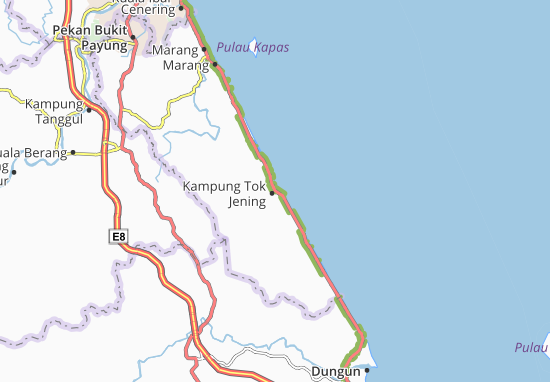 Kampung Tok Jening Map