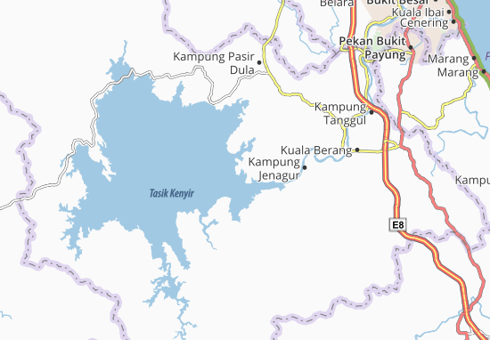 Kaart Plattegrond Pulau Leban Besar