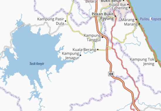 Kampung Jenagur Map