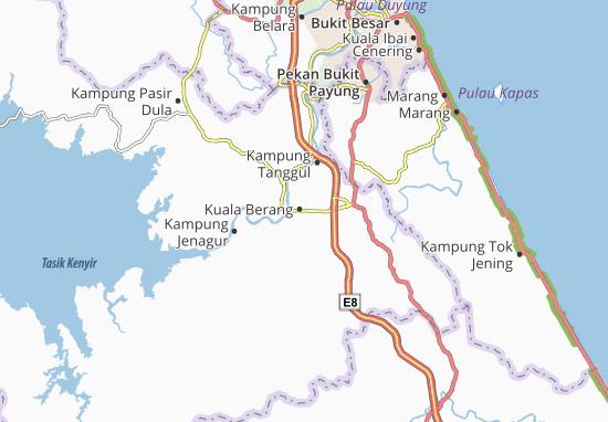 Kuala Berang Map