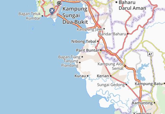 Bagan Tiang Map: Detailed maps for the city of Bagan Tiang