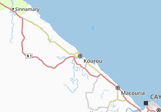 Kaart Plattegrond Kourou