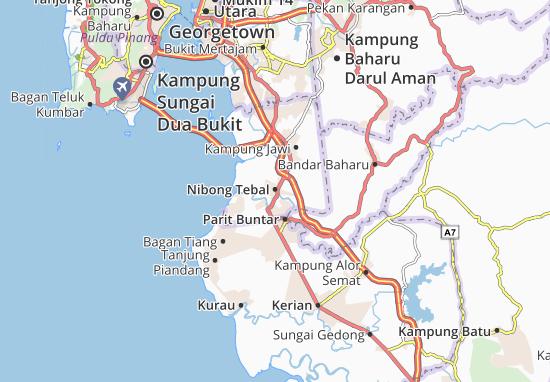 Kaart Plattegrond Nibong Tebal