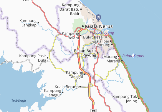 Kaart Plattegrond Kampung Telemung