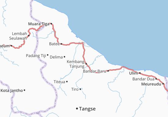Carte-Plan Peukan Baro