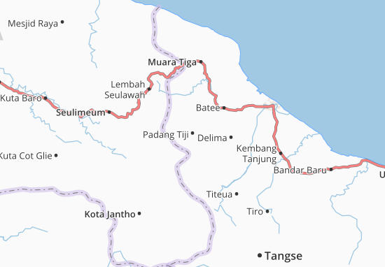 Carte-Plan Padang Tiji