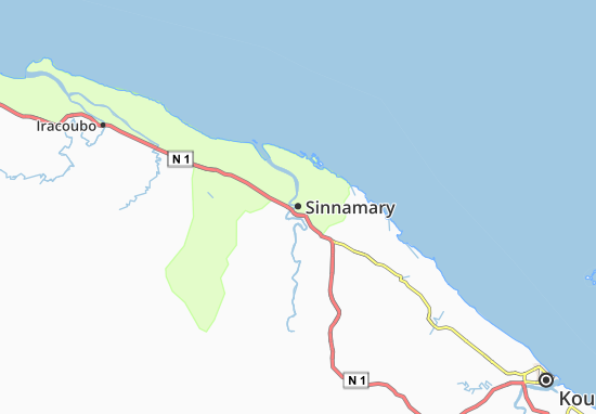 Mapa Plano Sinnamary