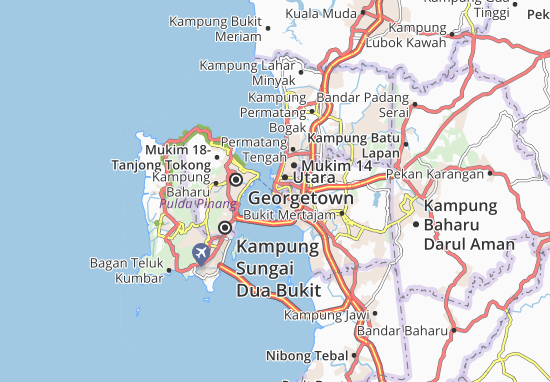 Mappe-Piantine Bandar Butterworth
