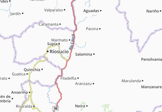 Kaart Plattegrond La Merced