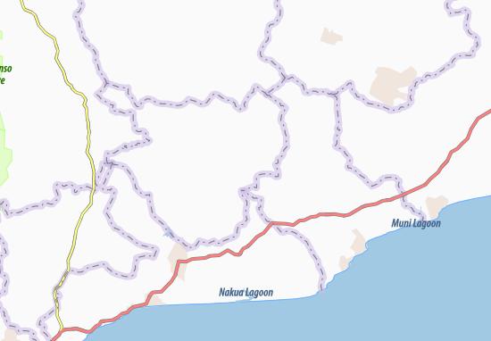 Mapa Plano Ampia Ajumako