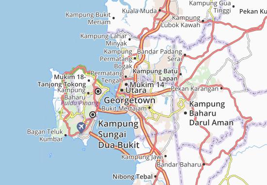 Kampung Bagan Serai Map