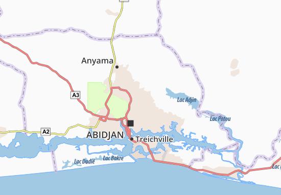 Carte-Plan Abobo Baoulé