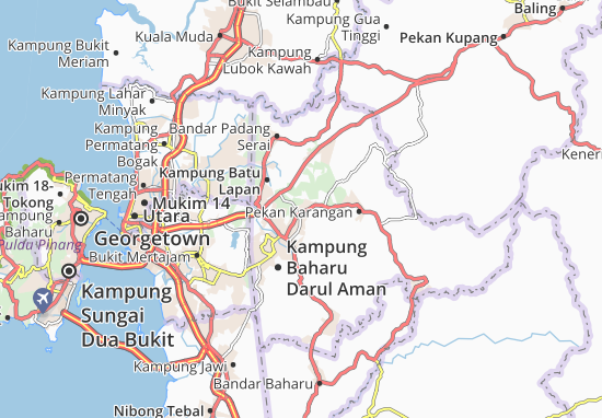 Kampung Padang China Map