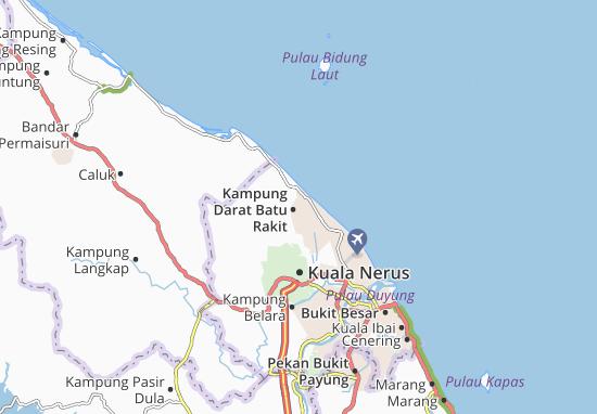 Kaart Plattegrond Kampung Darat Batu Rakit