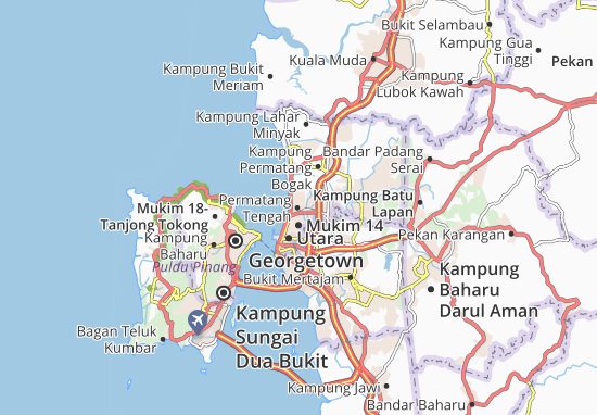 Mapas-Planos Permatang Tengah