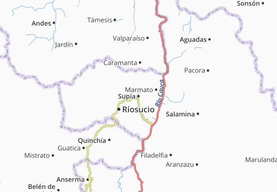 Kaart Plattegrond Supía