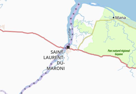 Saint-Laurent-du-Maroni Map