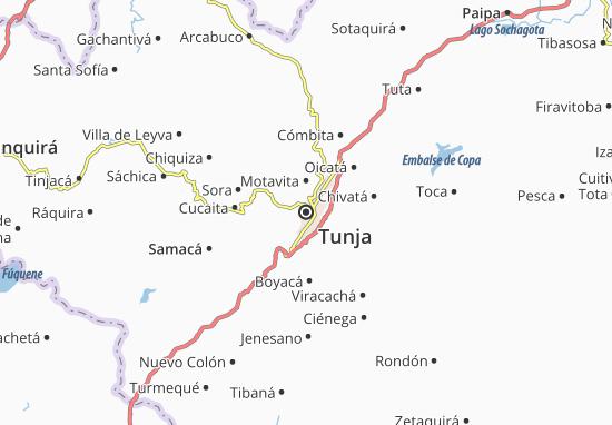 Tunja Map