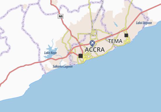 Mapa Accra