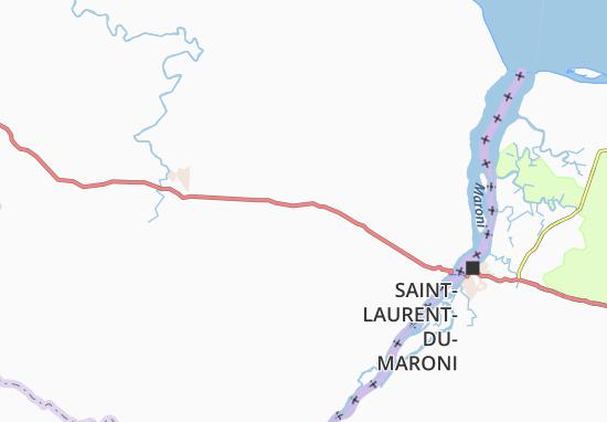 Mapa Plano Moengo Tapoe