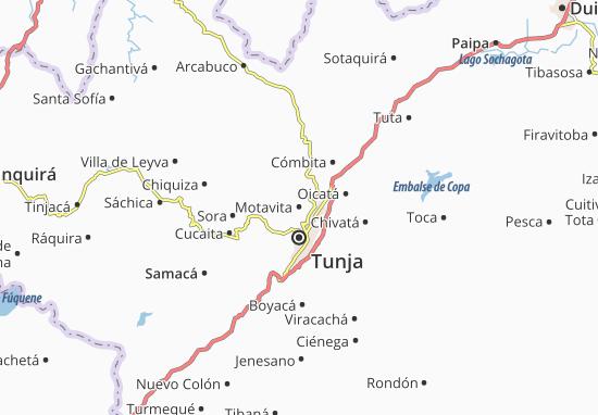 Map Of Motavita Michelin Motavita Map ViaMichelin - Tunja map