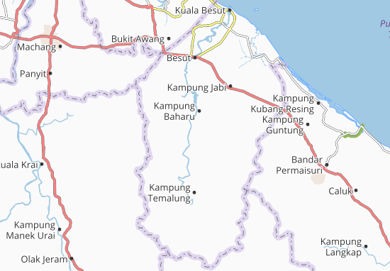 Kaart Plattegrond Kampung Teluk