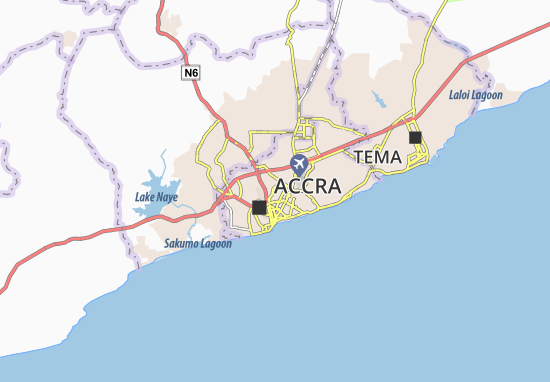 Accra New Town Map