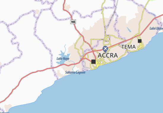 Awoshie Map