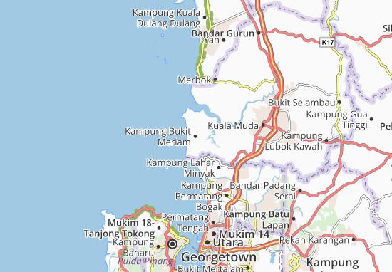 Kampung Bukit Meriam Map