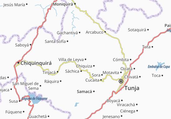 Map Of Villa De Leyva Michelin Villa De Leyva Map ViaMichelin - Tunja map