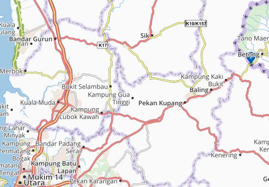 Kaart Plattegrond Kampung Gua Tinggi