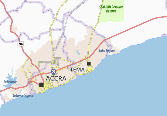 Mapa Plano Ashaiman West