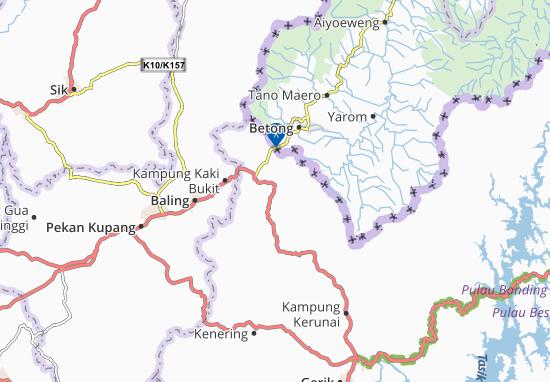 Pengkalan Hulu Map