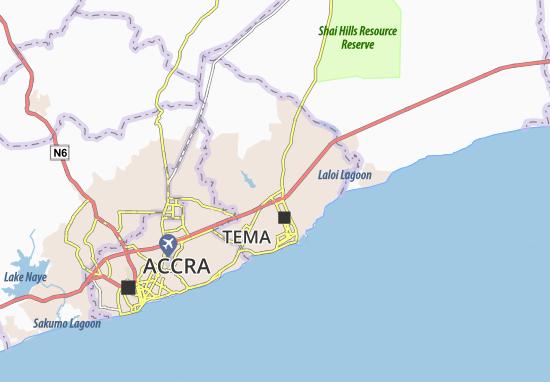 Mapa Plano Ashaiman
