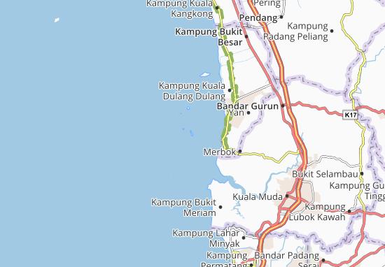 Pulau Bidan Map