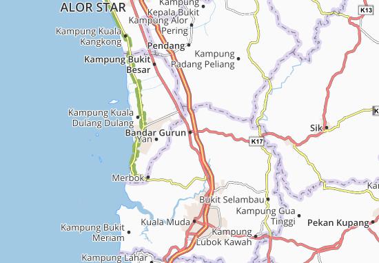Bandar Gurun Map