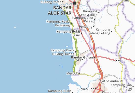 Pulau Bunting Map