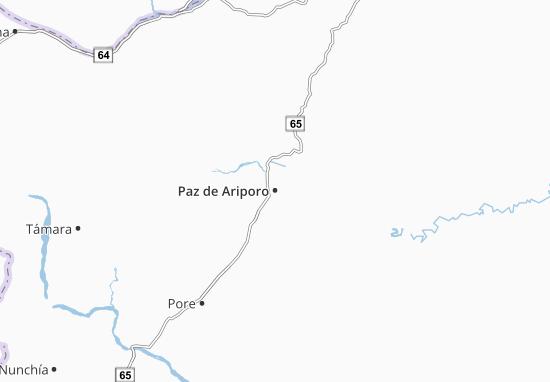 Carte-Plan Paz de Ariporo