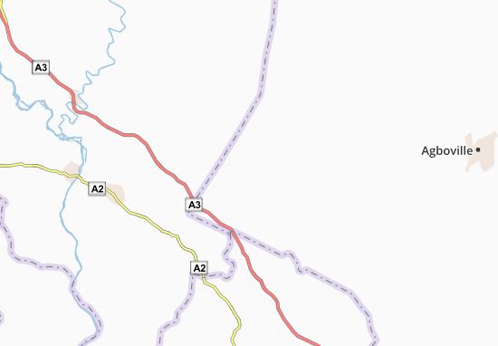 Carte-Plan Abudé-Koassikro